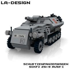 LEGO SdKfz 251-9 Ausf C 1 (LA-Design2012) Tags: tank lego c wwii 9 german ww2 instructions pdf custom xml halftrack wehrmacht 251 sdkfz bauanleitung ausf ladesign