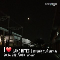 Full moon.             #instaplace #instaplaceapp #instagood #photooftheday #instamood #picoftheday #instadaily #photo #instacool #instapic #picture #pic @instaplaceapp #place #earth #world  #ประเทศไทย #บางนา #lakebitec|ทะเลสาบไบเทค #shopping #outdoors #s