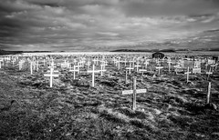 Iqaluit Cemetery (Ian McKenzie) Tags: blackandwhite cemetery death cross sony north graves burial nunavut lightroom iqaluit a700 northerncanada geocity exif:iso_speed=125 exif:make=sony camera:make=sony exif:focal_length=16mm camera:model=dslra700 geostate geocountrys exif:model=dslra700 exif:aperture=22 exif:lens=dt16105mmf3556 ianmckenziephotography