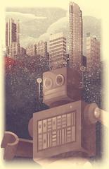 A City Snow-Bot (Joshua Kemble) Tags: city snow illustration poster graphicdesign robot tshirt 2color snowbot joshkemble joshuakemble polynothing