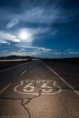 Moonlight Kicks (dejavue.us) Tags: california road longexposure nightphotography moon lightpainting building abandoned digital route66 nikon desert ludlow fullmoon moonrise nikkor asphalt derelict mojavedesert d800 1835mmf3545d vle