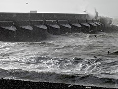 A storm lashes the sea wall (Andy Worthington) Tags: sea brighton beaches storms eastsussex blackrock marinas breakwaters seawalls brightonmarina andyworthington