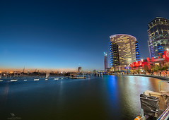Dubai Festival City (vineetsuthan) Tags: photoblog bluehour hdr digitalblending nikond800 vineetsuthan