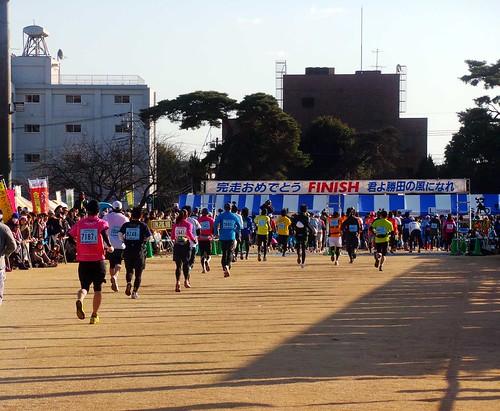 勝田全国マラソン ゴールゲート
