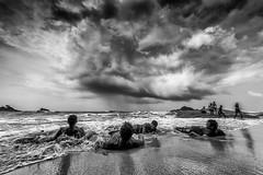 Om Beach (Well-Bred Kannan (WBK Photography)) Tags: ocean sea sky blackandwhite bw cloud india seascape water monochrome rain clouds landscape nikon waves indian monsoon d750 gokarna arabian karnataka udupi kannan ombeach wellbred wbk weekendwalk bhatkal wbkphotography kannanmuthuraman nikond750 blackandwhitebwblackwhitemonotonemonomonochromeincredibleindiatravelphotographytraveltravelertravellingmurdeshwaramangaloreudupigokarnamonsoonrainarabianseakarnataka