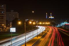 Trailing lights & Muscat (aliffc3) Tags: travel muscat oman alzawawimosque cityscape lowlightphotography lighttrails nikond750 tamron2470f28 nightshot colors