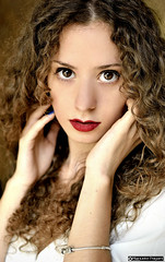 Michela_DSC9437modfirma (manuele_pagani) Tags: red portrait girl beauty hair big eyes italian pov lips curly ritratto michela pp