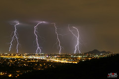 Symmetry (No Stone Unturned Photography) Tags: lightning storm arizona electrical city phoenix lights night monsoon