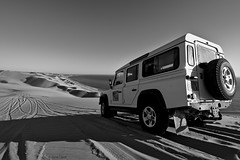 Until the end (Herv Clairet) Tags: africa afrique namibia namibie desert land rover jeep expedition car