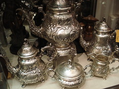 "GERMAN 800 SILVER TEA SET, 19TH CENTURY. • <a style=""font-size:0.8em;"" href=""http://www.flickr.com/photos/51721355@N02/28532471182/"" target=""_blank"">View on Flickr</a>"