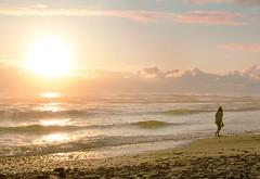 Walking Alone (ruhi) Tags: sunset girl alone beach sea sky nature natural naturephotography naturebeauty walking water shining otherpic