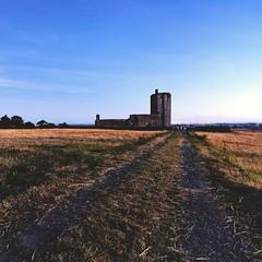 2016-08-20_05-01-39 (jonathon lynam) Tags: dublin skerries church sunset sky blue yellow shadow sone field farm ireland landscape country nikcollection nikon nikonphotography nikond40