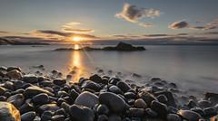 Kinghorn Beach (Grant Morris) Tags: kinghorn fife fifecoast fifecoastalpath scotland sunrise sunriseoverwater waterscape waterfront water longexposure rocks wetrocks clouds grantmorris grantmorrisphotography canon 5d3 1635