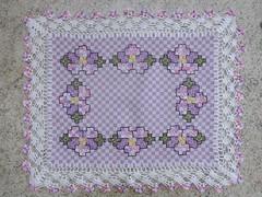39 (AneloreSMaschke) Tags: tecido xadrez bordado artesanato flores