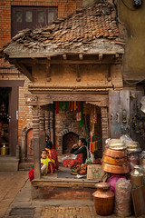 'Corner store' (Chaschaser) Tags: travel nepal asia bhaktapur shop street