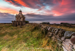 Mausoleum Sunset (Steven Peachey) Tags: landscape sunset northumberland sky clouds mausoleum standrews anglicanchurch leefilters stevenpeachey lightroom5 lee09gnd lee06gnd