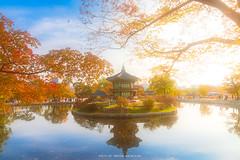 HYANGWONJEONG PAVILLION (::: a j z p h o t o g r a p h y :::) Tags: hyangwonjeong pavilion palace gyeongbokgung autumn fall season reflection waterreflection beautiful
