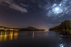 The Mio River (Danieldevad) Tags: landscape night river water reflection moon stars sky creative artistic creativo artistico paisaje noche rio agua reflejo luna estrellas cielo