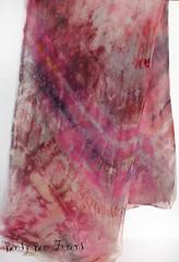 Pink Agate #1 (beesybee) Tags: felting handdyedscarf handdyedsilkfabric nunofeling scarf shibori silkchiffon silkfabric