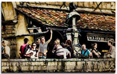 Ciao from the Ponte Vecchio (fotomark.net) Tags: thepontevecchio color layers italy florence topaz textures people