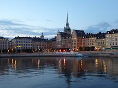 Gamla Stan (m_artijn) Tags: sunset night lights historic city center stockholm slussen se reflection water