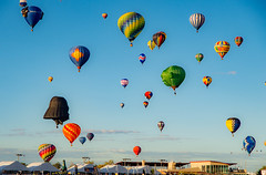 The force is strong with these Balloons (andmessphoto) Tags: hotairballoons balloons balloonfiesta newmexico albuquerque yoda darthvader vader starwars