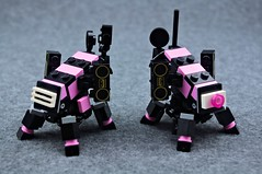 Backup Dancers (Deltassius) Tags: ijad space alien lego frame mech mecha robot war military mf0 mfz mobile zero scrambler