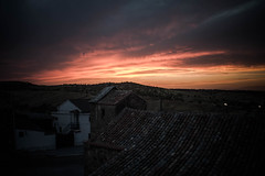 Night is coming (amatulow) Tags: castilla la mancha toledo color colores colors noche night sunset puesta de sol nightfall dusk gloaming crepsculo oscuridad anochecer sundown light luz canon campo village pueblo eos espaa spain rebel t3 1100d paisaje landscape church iglesia house casa aire libre nube cielo sky cloud open air out side