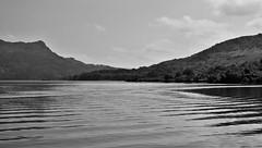 Leaving Stronachlachar (brightondj - getting the most from a cheap compact) Tags: thirdwalk scotland trossachs lochkatrine water loch benaan bw landscape