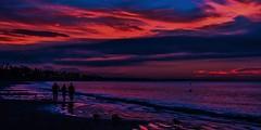 Three Some? (beachpeepsrus) Tags: beach beachfront shore dawn sky sunrise sihlouette surf