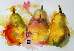 the pear apear 270916 (hpposs) Tags: painting ink