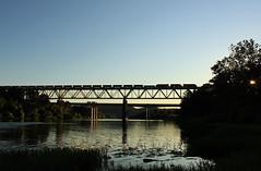 Sunset Silhouette (GLC 392) Tags: bessemer lake erie railroad railway train emd sd40t3 u702 u70261 sd383 sd38ac sd382 iron ore pa pennsylvania 910 866 902 harmarville sunset silhouette allegheny river bridge tree tunnel motor