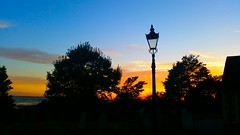 St Clements Church (Monsieur Tout Le Monde) Tags: saint stclements church churchyard oldleigh old leighonsea leigh on sea sunset evening nightsky essex southend england grave graveyard serene cemetery lamp thames rivertree silhouette skyline dominickillworth