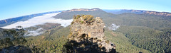 Blue Mountains (lukedrich_photography) Tags: australia oz commonwealth        newsouthwales nsw overlook viewpoint skyline valley plateau blue mountains region jamisonvalley scenic nature katoomba rock cloud fog forest pano panorama canon t6i canont6i history culture