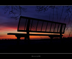 Cold Bench @ Sunset (Borretje76) Tags: wood blue winter sunset orange sun cold nature netherlands metal clouds 35mm bench landscape outdoors zonsondergang woods europa europe mood moody sam outdoor sony perspective nederland bank structure veen 18 dag enschede winterland winterlandscape koud bankje haaksbergen kleuren zonnige haaksbergerveen metalbench a580 borretje76 sony35mm18sam