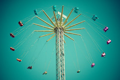 Around the world (The Green Album) Tags: people tower high ride cardiff vertigo fast fair swing scream attraction btinfinity