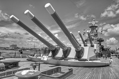 The Big Guns (Brian Utesch (shutterBRI)) Tags: blackandwhite bw usa japan america canon nc war ship pacific steel wwii northcarolina battle historic american carolina ww2 guns battleship wilmington 20thcentury worldwar worldwar2 2012 ussnorthcarolina shutterbri brianutesch