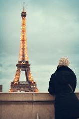 Collect moments // Not things (L e t i) Tags: winter paris girl 35mm nikon tour eiffel parigi d700
