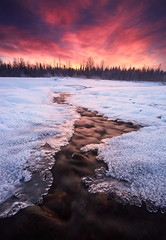 Decembers Chill (Wolfhorn) Tags: winter sunset snow cold ice nature alaska landscape wilderness waybelow0