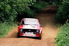 About to Roll - Robinson / Hutchinson - Escort RS MkII - Watchwood 2 - Dukeries Rally 2012 (74Mex) Tags: 2 rally rs robinson escort hutchinson 2012 mkii dukeries watchwood