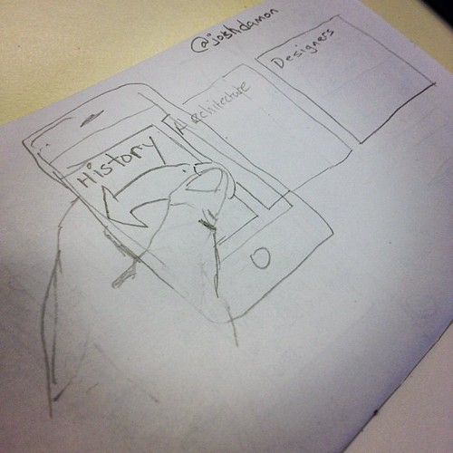 Digging that I can sketch interactions (swipes) #sketchcamp