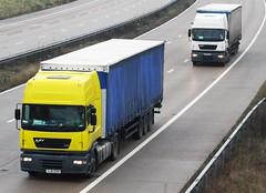 ERF ECX pair (gylesnikki) Tags: white yellow truck artic yj51edo