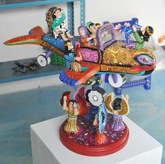 Airplane Nacimiento Oaxaca (Ilhuicamina) Tags: wood airplane mexico madera folkart crafts oaxaca nacimiento avion nativityscene