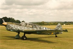 Messerschmitt Bf108 Taifun/Nord N.1000 Pingouin Shuttleworth Military Pageant 05-06-94 (Richard.Crockett 64) Tags: bedfordshire airshow ww2 1994 shuttleworth nord messerschmitt pingouin worldwartwo luftwaffe taifun oldwarden me108 bf108 shuttleworthmilitarypageant