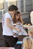 Harry Styles has lunch One Direction seen having lunch and exchange gifts outside the CBS Studios, before the taping of the 'X Factor' finale. Los Angeles, California- 20.12.12 JP