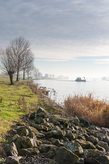 Dutch river in autumn - Bergsche Maas (RuudMorijn) Tags: morning autumn trees sky mist reflection tree fall reed nature water netherlands dutch weather misty fog mystery sunrise river landscape outdoors dawn boat bomen colorful ship view riverside outdoor spirit stones background horizon seasonal herfst perspective smooth foggy scenic silhouettes peaceful tranquility atmosphere scene row calm explore silence mysterious serene idyllic kale brabant tranquil autumnal atmospheric mystic banks ochtend noordbrabant dussen wheather stenen schip najaar vroeg oever waterkant rvier ochtendnevel bergschemaas