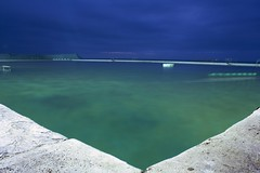 Newcastle Baths Expanse (Sterling67) Tags: ocean green water overcast baths swimmer