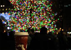 """Let's rediscover ... (bimurto) Tags: christmas new york xmas light holiday newyork tree cup coffee night canon season happy bokeh manhattan year joy decoration center starbucks rockefeller greeting t2i"