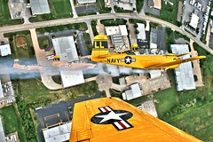 Lima Lima Flight Team Over Davenport, IA (Kris Klop) Tags: fly flying flight formation airshow t34 quadcitiesairshow quadcityairshow limalimaflightteam qcas
