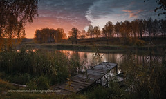 .   (  (naumenkophotographer) Tags: autumn trees sun lake reflection beach water fog sunrise river landscape pond frost ukraine driftwood area current sula      sumy              romensky romny    skripaj shilovsky     koroventsy